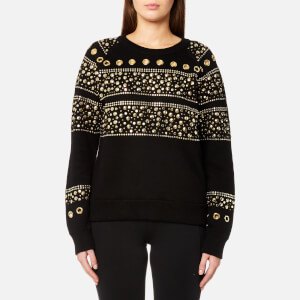 MICHAEL MICHAEL KORS Women's Stud Sweatshirt - Black/Gold