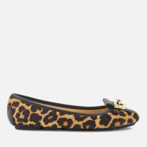 MICHAEL MICHAEL KORS Women's Gloria Moc Ballet Flats - Natural/Black