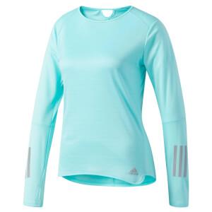 adidas Women's Response Long Sleeved Running Top - Blue