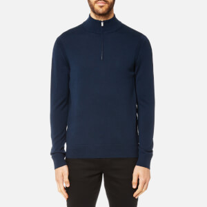 Michael Kors Men's Merino Half Zip Sweatshirt - Midnight