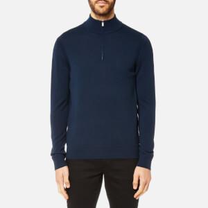 Michael Kors Men's Merino Half Zip Sweatshirt - Midnight