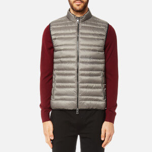 Michael Kors Men's Channel Quilted Vest - Slate Grey