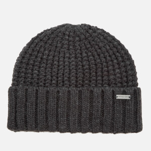 Michael Kors Men's Dashed Rib Cuff Hat - Charcoal