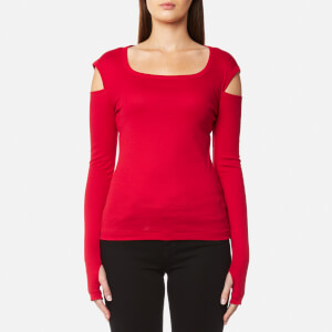 Helmut Lang Women's Slash Long Sleeve Top - Coral