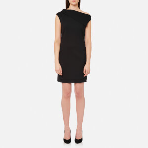 Helmut Lang Women's Asymmetric Mini Dress - Black