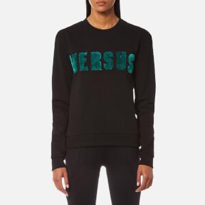 Versus Versace Women's Versus Textured Logo Sweatshirt - Black