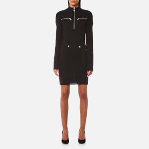 Versus Versace Women's High Neck Zip Knit Dress - Black