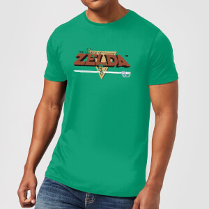 Nintendo The Legend of Zelda Retro Logo Heren T-shirt - Groen