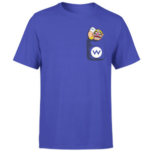Nintendo Super Mario Wario Pocket Heren T-shirt - Paars