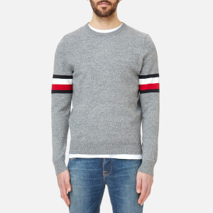 Tommy Hilfiger Men's O'Connor Crew Neck Knitted Jumper - Silver Fog