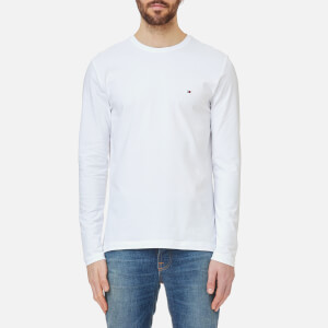 Tommy Hilfiger Men's Stretch Long Sleeve T-Shirt - Bright White