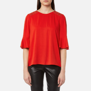 BOSS Orange Women's Kaloky Top - Medium Red