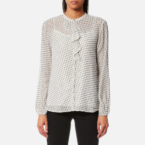 BOSS Orange Women's Casimiri Blouse - Open White