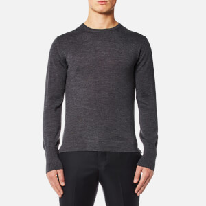 Officine Générale Men's Nina Crew Neck Merino Wool Jumper - Mid Grey