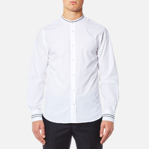 Officine Générale Men's Gaspard Military Braid Grandad Shirt - White