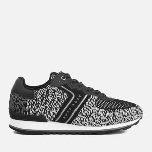 BOSS Green Men's Parkour Running Retro Trainers - Black