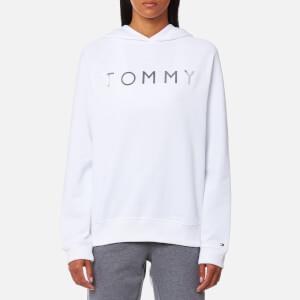 Tommy Hilfiger Women's Heavy Weight Tommy Hoody - Classic White