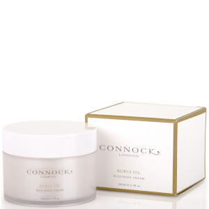 Connock London crema ricca per il corpo all'olio di kukui 200 ml