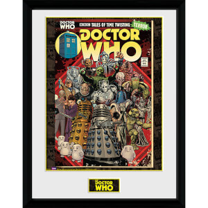 Doctor Who Villains Comic - 16 x 12 Inches Framed Photograph