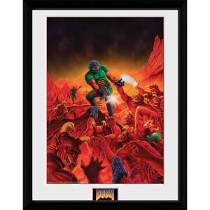Doom Classic Key Art - 16 x 12 Inches Framed Photograph