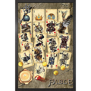 Fable Playing Cards - 61 x 91.5cm Framed Maxi Poster