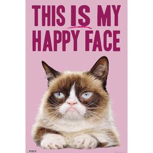 Grumpy Cat Happy Face - 61 x 91.5cm Maxi Poster