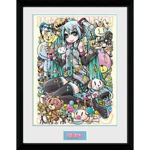 Hatsune Miku Kawaii - 16 x 12 Inches Framed Photograph