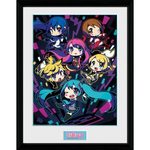 Hatsune Miku Neon Chibi - 16 x 12 Inches Framed Photograph