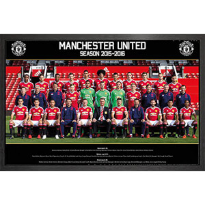 Manchester United Team Photo 15/16 - 61 x 91.5cm Framed Maxi Poster