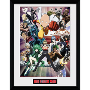One Punch Man Key Art - 16 x 12 Inches Framed Photograph