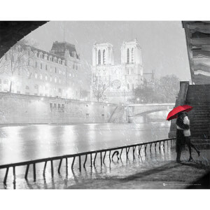Paris Notre Dame Kiss - 40 x 50cm Mini Poster