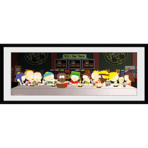 South Park Last Supper - 30 x 12 Inches Framed Photograph