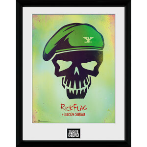 Suicide Squad Rick Flag Skull - 16 x 12 Inches Framed Photograph