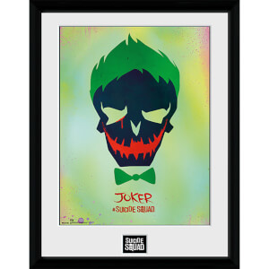 Suicide Squad The Joker Skull - 16 x 12 Inches Framed Photograph