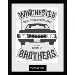 Supernatural Winchester - 16 x 12 Inches Framed Photograph