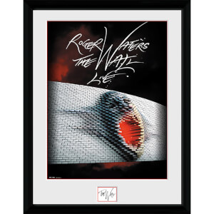 Pink Floyd The Wall Tour Poster - 16 x 12 Inches Framed Photograph