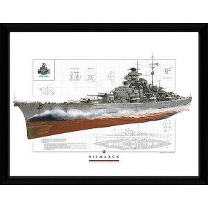 World of Warships Bismark 1 - 16 x 12 Inches Framed Photograph
