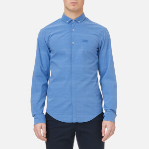 BOSS Green Men's Burris S Long Sleeve Shirt - Bright Blue