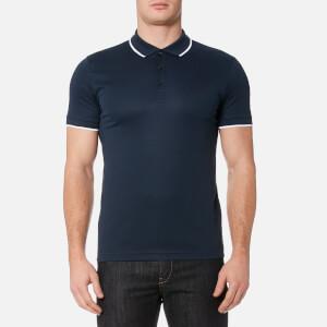 BOSS Green Men's Pl Tech Polo Shirt - Navy