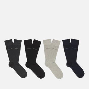 BOSS Hugo Boss Men's 4 Pack Socks Tin - Multi