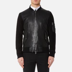 BOSS Orange Men's Jixx Leather Jacket - Black