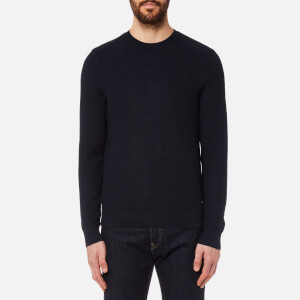 BOSS Orange Men's Kelvor Crew Neck Knit Jumper - Navy