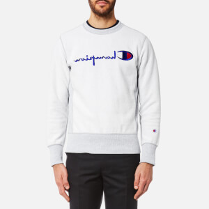 Champion Men's Reversed Crew Neck Sweatshirt - Grey
