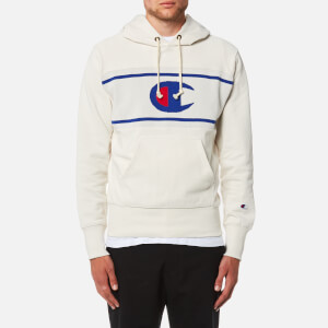 Champion Men's Jacquard Insert Hoody - White