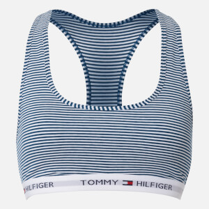 Tommy Hilfiger Women's Striped Bralette - Poseidon/White