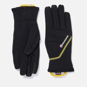 Montane Men's Power Stretch Pro Gloves - Black/Kiwi
