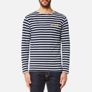 Maison Labiche Men's Old School Long Sleeve T-Shirt - Bleu Blanc