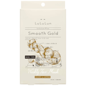 Lululun Plus Smooth Gold Face Mask - 5 Sheets