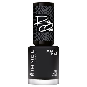 Rimmel 60 Seconds Rita Shades of Black Nail Polish - Black Matte 906 8ml