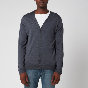 John Smedley Men's Petworth 30 Gauge Merino Cardigan - Charcoal